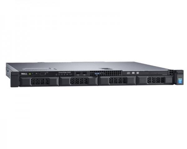DELL PowerEdge R230 Xeon E3-1220 v6 4C 1x8GB H330 1x600GB SAS DVDRW 250W 3yr NBD + Sine za Rack no riser
