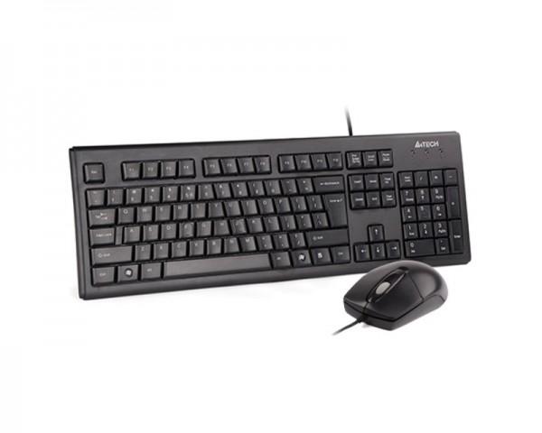 A4 TECH KRS-8372 PS2 US crna tastatura + PS2 crni miš