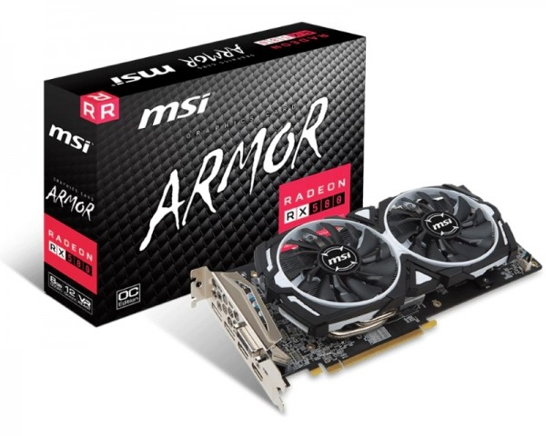 MSI AMD Radeon RX 580 8GB 256bit RX 580 ARMOR 8G OC