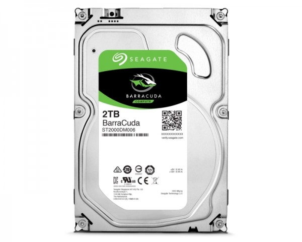 SEAGATE 2TB 3.5'' SATA III 64MB 7.200 ST2000DM006 Barracuda Guardian