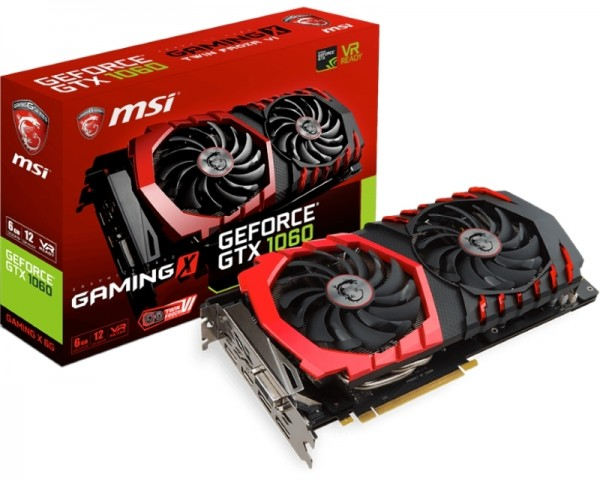 MSI nVidia GeForce GTX 1060 6GB 192bit GTX 1060 GAMING X 6G