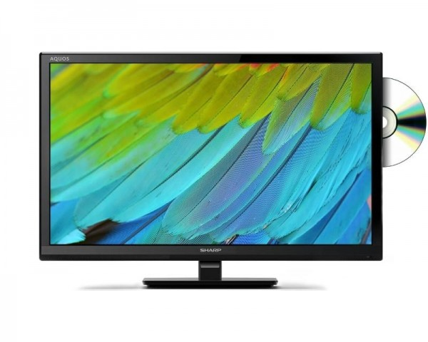 SHARP 24'' LC-24DHF4012E digital LED TV + DVD Player