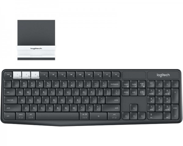 LOGITECH K375s Bluetooth Multi-Device Wireless YU crna tastatura + Stand