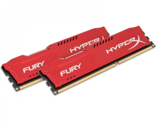 KINGSTON DIMM DDR3 16GB (2x8GB kit) 1866MHz HX318C10FRK216 HyperX Fury Red