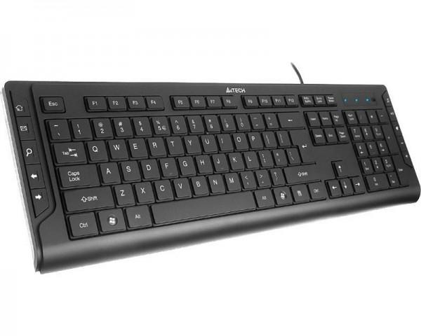 A4 TECH KD-600 X-Slim Multimedia USB YU crna tastatura