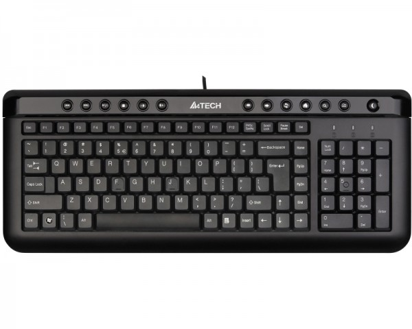 A4 TECH KL-40 X-Slim USB US crna tastatura