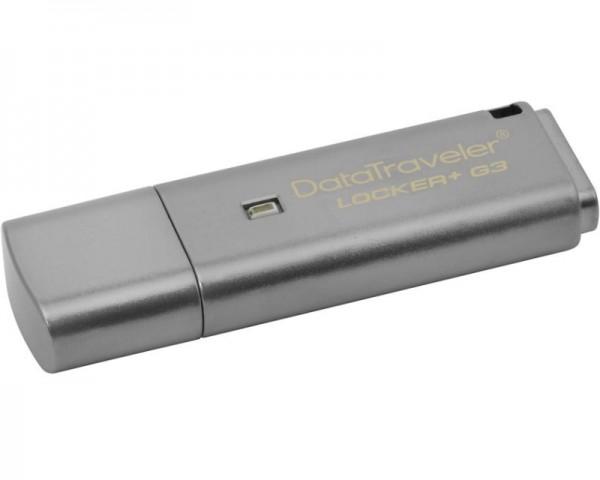 KINGSTON 32GB DataTraveler Locker+ Generation 3 USB 3.0 flash DTLPG332GB sivi