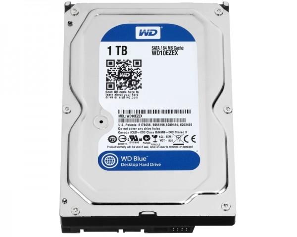 WD 1TB 3.5'' SATA III 64MB 7.200rpm WD10EZEX Blue