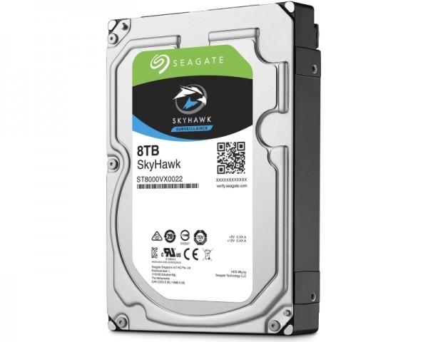 SEAGATE 8TB 3.5'' SATA III 256MB ST8000VX0022 SkyHawk Surveillance HDD