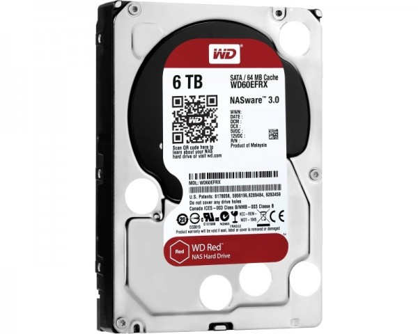 WD 6TB 3.5'' SATA III 64MB IntelliPower WD60EFRX Red