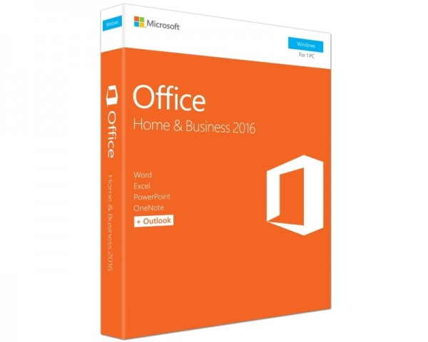 MICROSOFT Office 2016 FPP DVD P2 Home and Business 32bit64bit T5D-02710