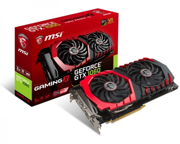 MSI nVidia GeForce GTX 1060 3GB 192bit GTX 1060 GAMING X 3G