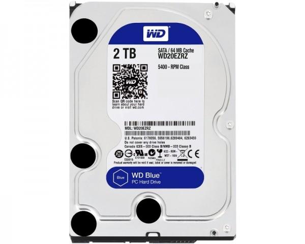 WD 2TB 3.5'' SATA III 64MB 5.400rpm WD20EZRZ Blue