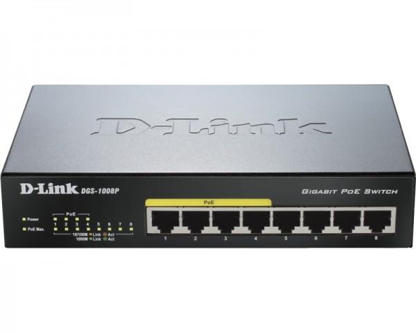 D-LINK DGS-1008P 8port PoE switch