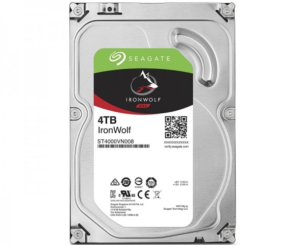 SEAGATE 4TB 3.5'' SATA III 64MB ST4000VN008 IronWolf Guardian