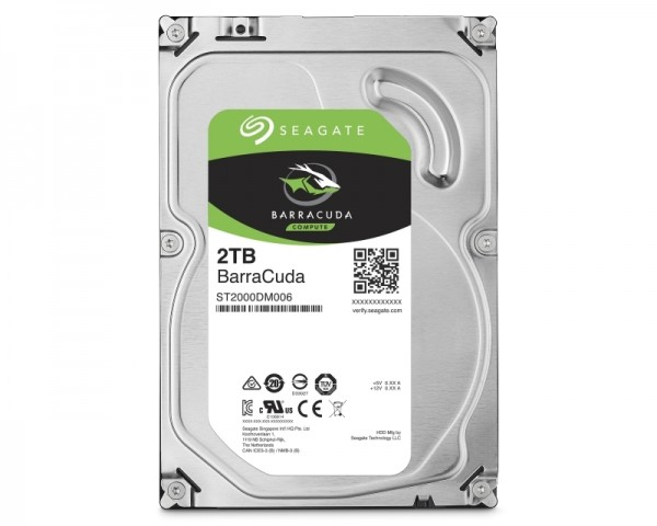 SEAGATE 2TB 3.5'' SATA III 64MB 7.200rpm ST2000DM008 Barracuda