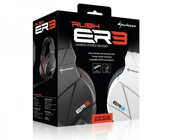 SHARKOON Rush ER3 slušalice sa mikrofonom bele