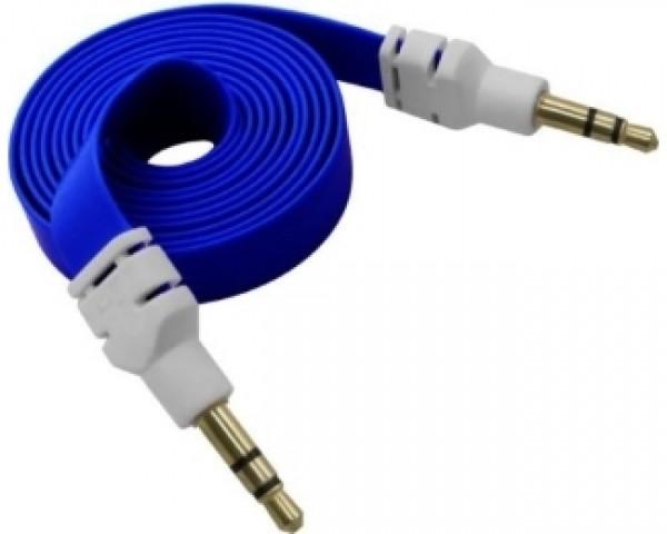 FAST ASIA Kabl flat audio 3.5mm MM 1m plavi