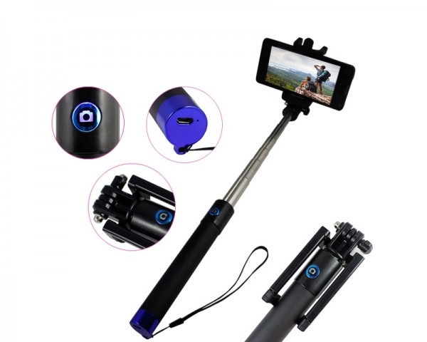 SELFIE StickPro Foldable Bluetooth Selfie Stick crni