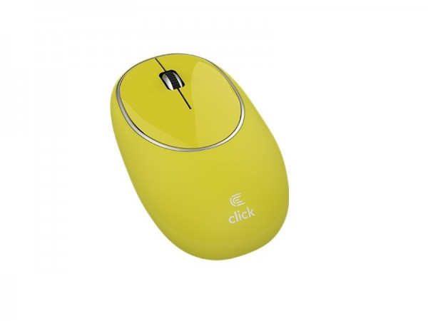Click M-W2-SW Miš bežični USB, gumeni, žuti' ( 'MW2SWY' )