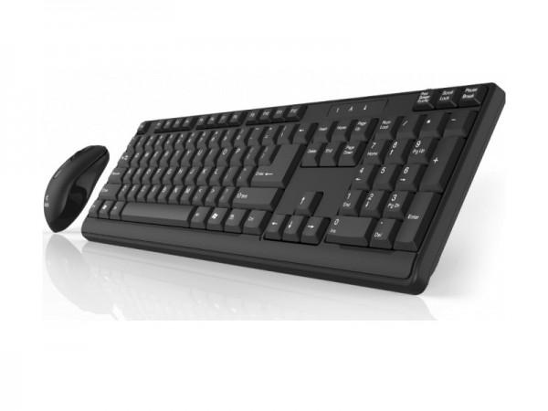 Click KM-L2-W Tastatura i miš bežični USB, YU, crni' ( 'KML2WBYU' )