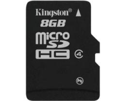 KINGSTON MicroSDHC 8GB SDC4/8GBSP