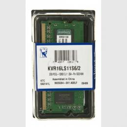 Kingston SODIMM DDR3 2GB 1600MHz KVR16LS11S6/2 1.35V