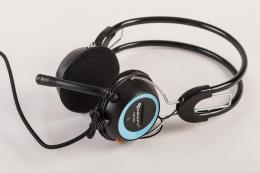 CHS-T3 Slusalice sa mikrofonom, Plave