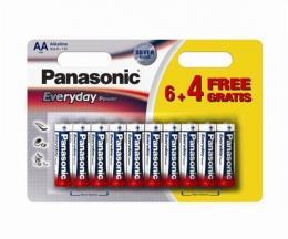 PANASONIC baterije LR6EPS10BW-AA 10 kom 6+4F Alkalne Ever