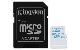 MEM SD MICRO 64GB HC Class 3 UHS-I + ad KIN