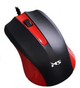 MIŠ MS SKIPPER_2 žičani miš, crveni