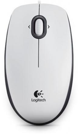 MIŠ LOGITECH B100 Optical USB Mouse OEM  White 910-003360