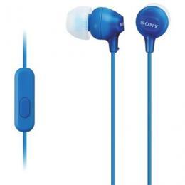 SONY slušalice MDR-EX15APLI blue sa mikrofonom