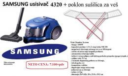 SAMSUNG usisivač VCC4320S31BOL, 1600W+poklon sušilica za veš