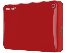 TOSHIBA Canvio Connect II 1TB 2.5 crveni eksterni hard disk HDTC810ER3AA