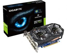 GIGABYTE nVidia GeForce GTX 750 Ti 2GB 128bit GV-N75TOC-2GI rev.1.0