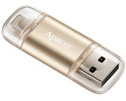 APACER 64GB AH190 USB 3.1 dual interface zlatni