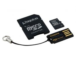 KINGSTON MicroSDHC 16GB class 10 + adapter + USB Reader MBLY10G2/16GB