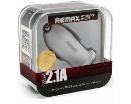 REMAX Auto punjac 1x USB 2.1A beli