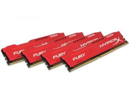 KINGSTON DIMM DDR4 64GB (4x16GB kit) 2133MHz HX421C14FRK4/64 HyperX Fury Red
