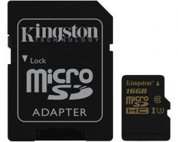 KINGSTON UHS-I U3 MicroSDHC 16GB class U3 + Adapter SDCG/16GB Gold