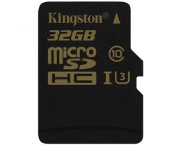 KINGSTON UHS-I U3 MicroSDHC 32GB class U3 SDCG/32GBSP Gold
