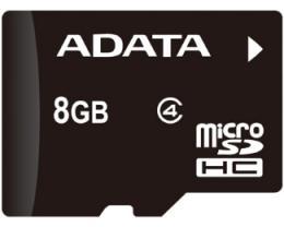 A-DATA MicroSDHC 8GB class 4 AUSDH8GCL4-R