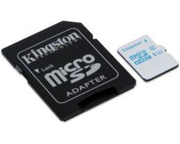 KINGSTON UHS-I U3 MicroSDHC 16GB + Adapter SDCAC/16GB