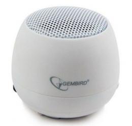 SPK-103-W Gembird Portable USB zvucnik 2W sa ugradjenom baterijom, rechargeable lithium batt.,WHITE