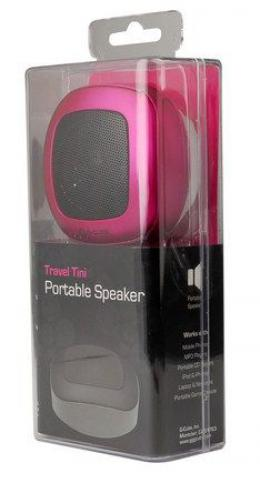 A4-AST-80SR GCUBE Portable zvucnici, Built-in rechargeable battery for 4 hours of music, 3,5mm Pink