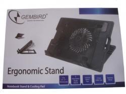 N2000IV** Gembird hladnjak za laptop, 15-17 180mm Fan-CONTROL, 2xUSB, 365x265mm, Ergo Stand(560)
