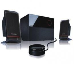 Microlab M-200 Aktivni drveni zvucnici 2.1  40W RMS(16W, 2x12W) kabl-daljinski, 3.5mm