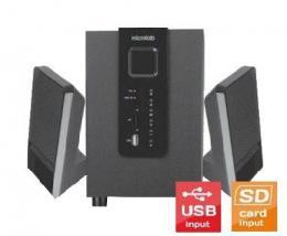 Microlab M-100U Aktivni drveni zvucnici 2.1  10W RMS(5W, 2x2.5W) SD, USB, 3.5mm