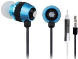MHS-EP-002 Gembird Metal MP3 slusalice sa mikrofonom + volume kontrol , BLUE (1x3,5mm)